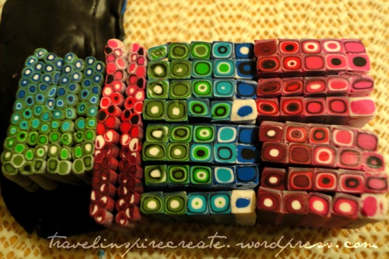 Pixelated retro color blend cane | Travel Inspire Create
