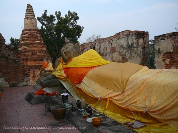 Big lying buddha in Ayuthaya (Thailand)