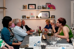 Dinner party with friends and family