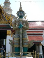 Giant Guard in the Grand Palace in Bangkok (Thailand)