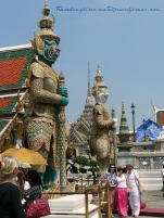 Giant Guards in the Grand Palace in Bangkok (Thailand)