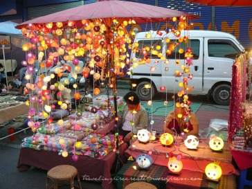 Lights on display at the Saturday Walking Street in Chiang Mai (Thailand)
