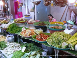 Veggies on display at a market in Bangkok (Thailand)