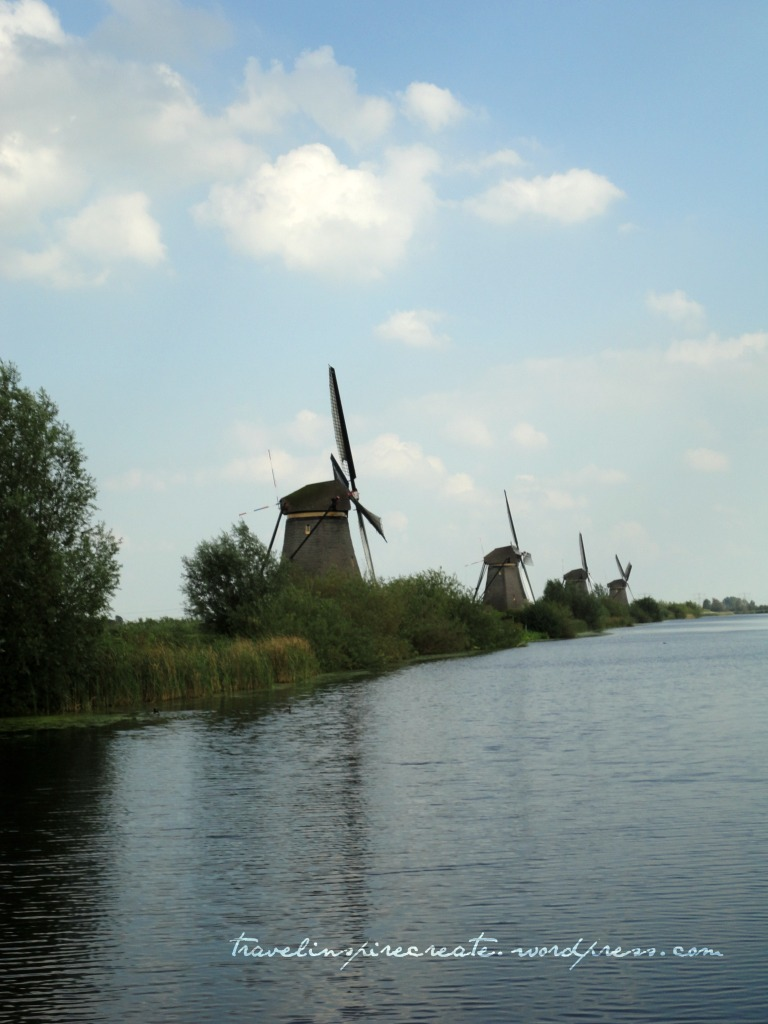 Multiple windmills at Kinderdijk