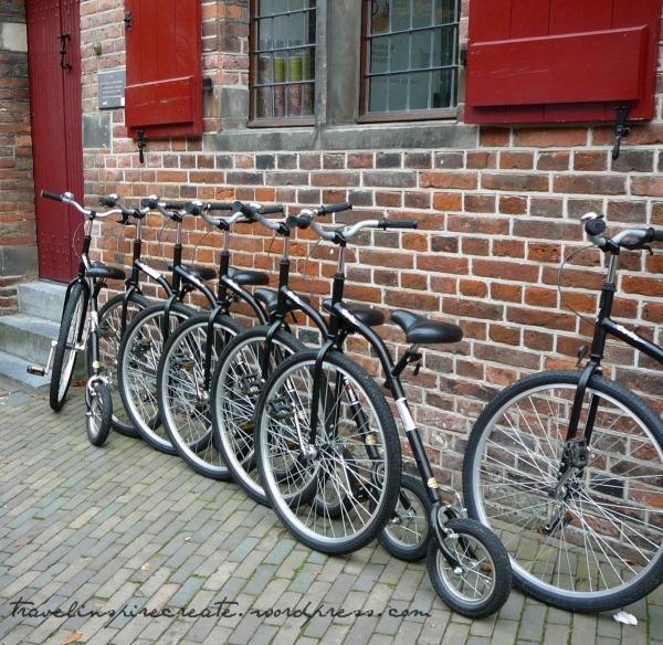 Old style bicycles